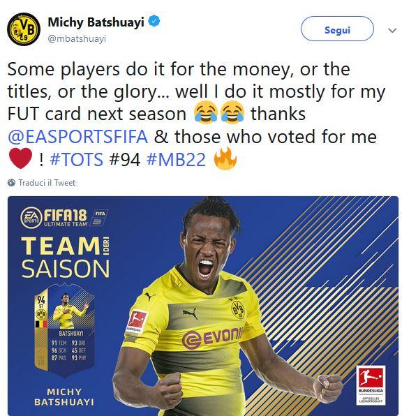 Michy Batshuayi FIFA18